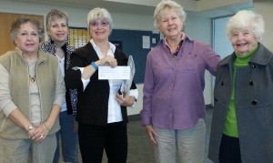 Accepting a grant from the Concord Garden Club