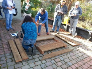 1. Making a garden box: Building the sides