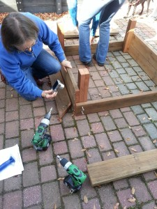 4. Making a garden box: Easy to put sides together up side down.