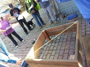 5. Making a garden box: Ensuring the box is square